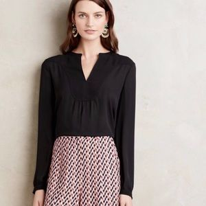 Anthropologie Black Tunic